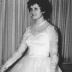 Philomene in Bride Dress Before Vows (1959)