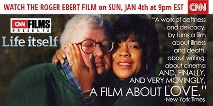 Roger Ebert, world renowned and beloved film critic film to be aired on CNN this Sunday.